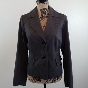 Grey blazer with cute pleated pockets and back NEW